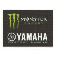 Parche textil MONSTER YAMAHA FACTORY 8cm x 6cm