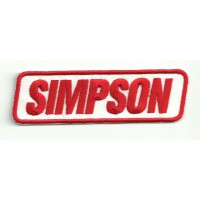 Patch embroidery SIMPSON HELMETS 10CM X 3,2CM