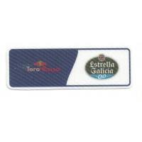 Patch textile TORO ROSSO - ESTRELLA GALICIA 9,5cm x 3cm
