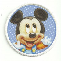 Patch embroidery and textile MICKEY 7,5cm diametre