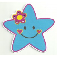 Patch textil STAR WITH BRIGHT 9cm x 8cm