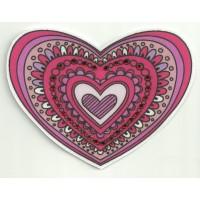 Patch textil HEART WITH BRIGHT 9cm x 6.5cm