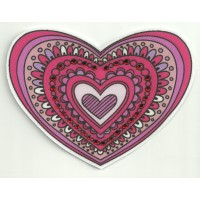 Patch textil HEART WITH BRIGHT 9cm x 6.5cm