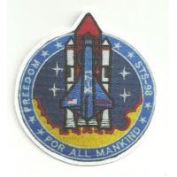 Textile patch FREEDOM STS-98 8cm x 8.5cm