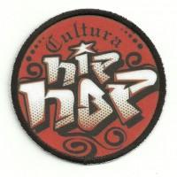 Embroidery patch and textile CULTURA HIP HOP 7.5cm diametre