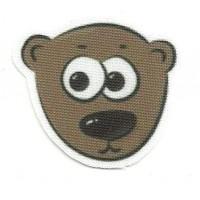 Textile patch BEAR HEAD 4.5CM X 4CM