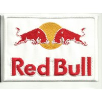 Parche bordado RED BULL BLANCO 5cm x 3,5cm