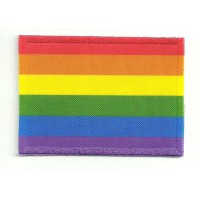 Embroidery and textile patch RAINBOW FLAG 7cm x 5cm