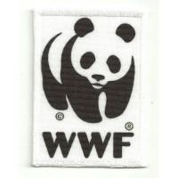 Parche bordado y textil WWF - World Wildlife Fund 5cm x 7cm
