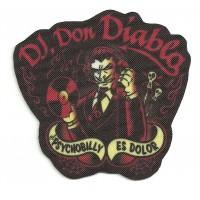 Textile patch DJ. DON DIABLA 7.5cm x 7cm