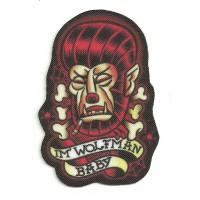 Parche textil I'M WOLFMAN - ROCKABILLY 5.5cm x 8cm