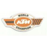 Parche textil KTM WORLD CHAMPION 9cm x 4,5cm