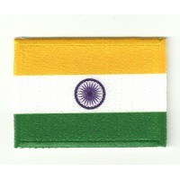 Parche textil y bordado BANDERA INDIA 4CM x 3CM