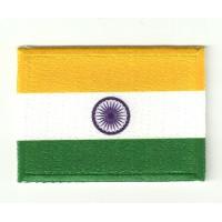 Parche textil y bordado BANDERA INDIA 7CM x 5CM