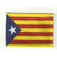 Patch textile and embroidery FLAG SENYERA ESTELADA 7CM X 5CM