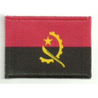 Patch embroidery and textile ANGOLA 4CM x 3CM