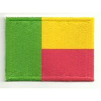 Parche bordado y textil BENIN 4CM x 3CM