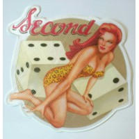 Textile patch PIN UP DADOS 8cm x 8cm