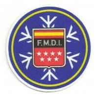 Textile patch F.M.D.I. FERERACION MADRILEÑA DEPORTES INVIERNO 7,5cm