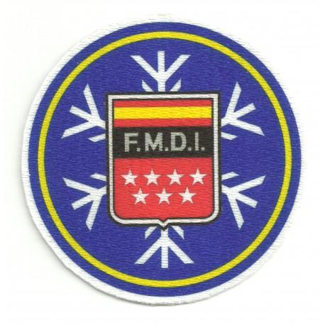 Parche textil F.M.D.I. FEDERACION MADRILEÑA DEPORTES DE INVIERNO 7,5cm