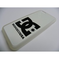 FUNDA CARCASA IPHONE 6 DC SHOES BLANCO TRANSPARENTE CON TRASERA DE ALUMINIO BLANCA