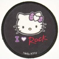 Parche bordado y textil HELLO KITTY ROCK 7,5cm