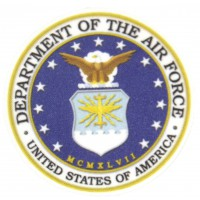 Textile patch DEPARTAMENT OF THE AIR FORCE 7cm