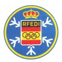 Textile patch R.F.E.D.I. REAL FEDERACION ESPAÑOLA DEPORTES DE INVIERNO 7,5cm