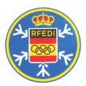 Parche textil R.F.E.D.I. REAL FEDERACION ESPAÑOLA DEPORTES DE INVIERNO 7,5cm