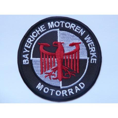 Parche bordado BMW BAYERISCHE MOTOREN WERKE MOTORRAD 7,5cm
