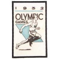 Parche bordado y textil OLYMPIC GAMES 1932 4,5cm x 7cm