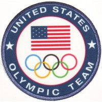 Embroidery and textile patch UNITED STATES OL UYMPIC TEAM 7,5cm