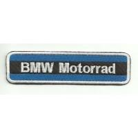 Parche bordado BMW MOTORRAD AZUL 12cm x 3cm