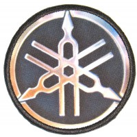 Embroidery and textile patch YAMAHA LOGO metal 7cm