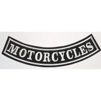Parche bordado MOTORCYCLES 24cm x 8cm