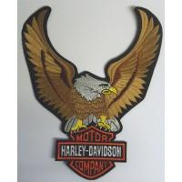 Parche bordado AGUILA GRANDE FRONTAL HARLEY 22,5cm x 26,5cm