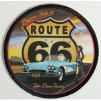 Patch embroidery and textil ROUTE 66 7,5cm