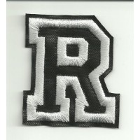 Patch embroidery LETTER R 20cm high