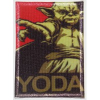 Patch textile and embroidery YODA 7cm x 5cm