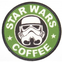 Embroidery and textle patch STAR WARS COFFEE 7,5cm