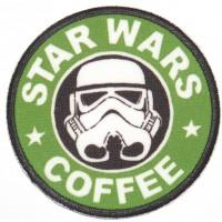 Parche textil y bordado STAR WARS COFFEE 7,5cm
