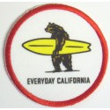 Embroidery and textile patch EVERYDAY CALIFORNIA 6cm