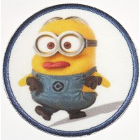 Embroidery and textile patch MINION BOB 7,4cm