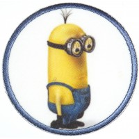 Embroidery and textile patch MINION KEVIN 7,4cm