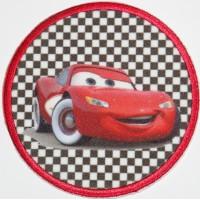 Parche bordado y textil CARS 7,4cm