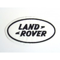 Parche bordado LAND ROVER BLANCO 9cm x 5cm