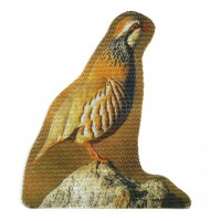 Textile patch RED PARTRIDGE 6cm x 7cm