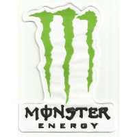 Patch embroidery MONSTER ENERGY WHITE 18cm x 18cm