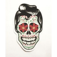 Textile patch ROCKABILLY SKULL BOY 9CM X 6CM