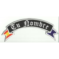 YOUR NAME GOTHIC FLAG embroidered patch 29cm x 11cm